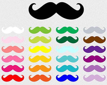Free cliparts colorful download. Clipart mustache colored