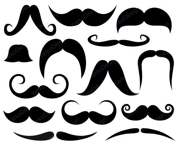 Clipart mustache different kind. Free cliparts download clip