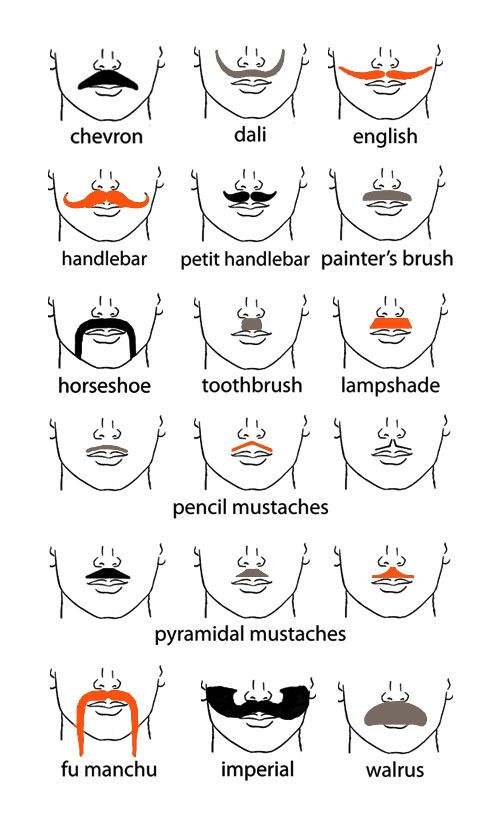 Clipart mustache different kind. Mojo s bash benefit