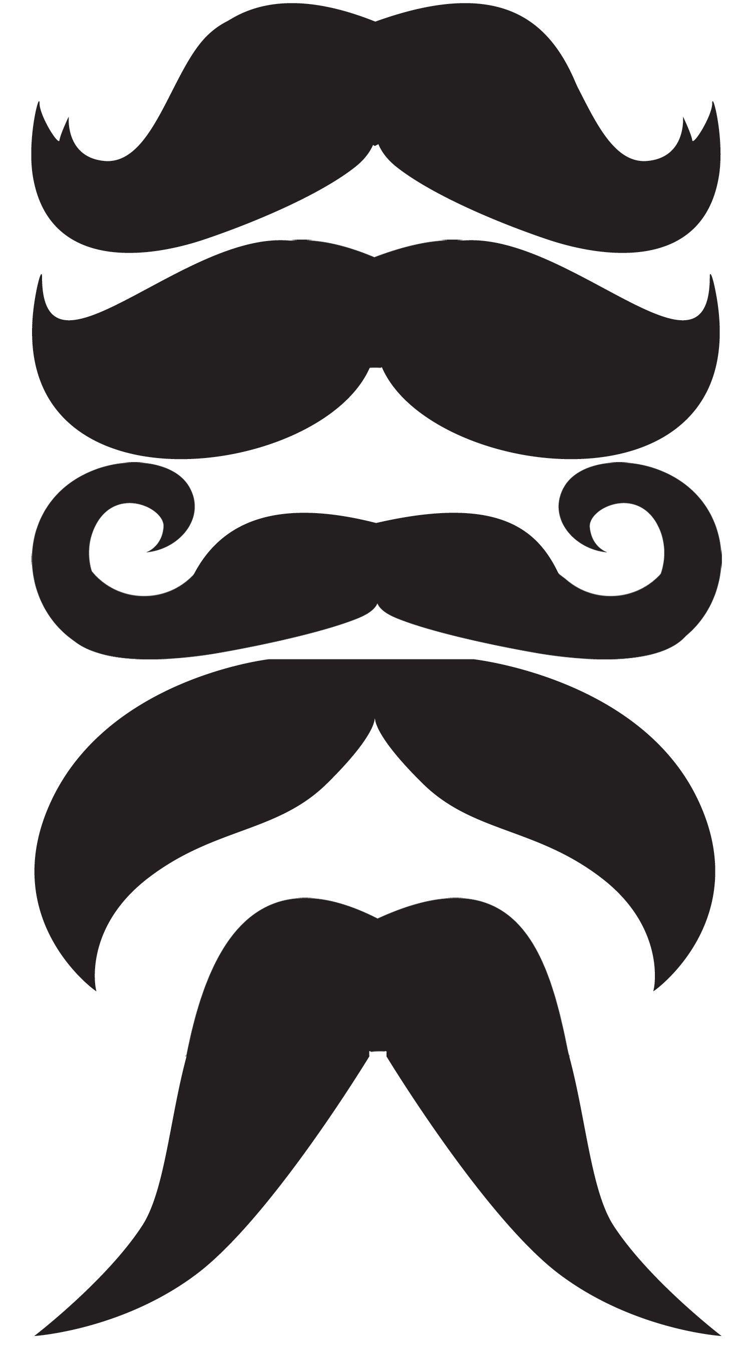 Moustache on a stick. Mustache clipart western