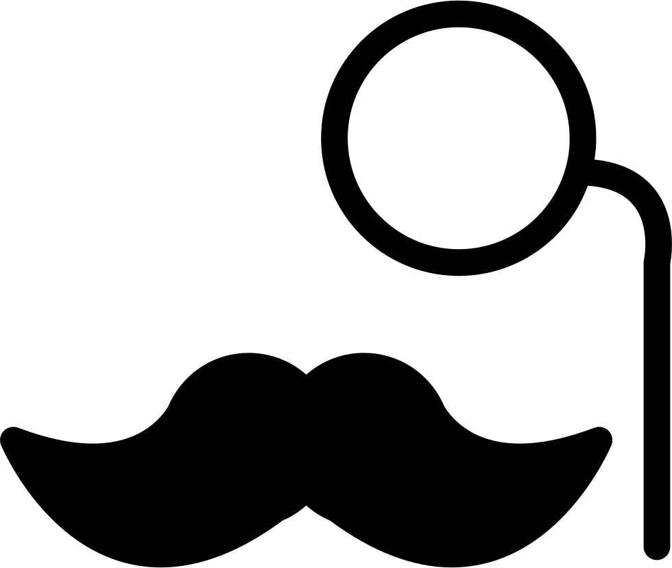 With lens svg png. Clipart mustache eye