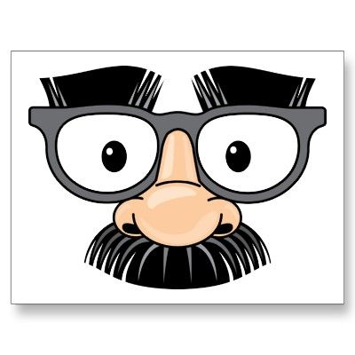 Glasses fake nose disguise. Clipart mustache eye