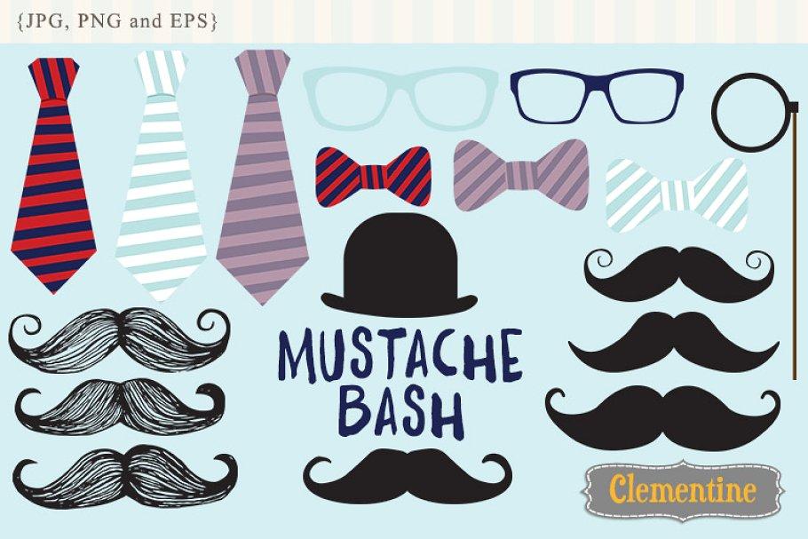 Clipart mustache eyeglasses frame. Clip art