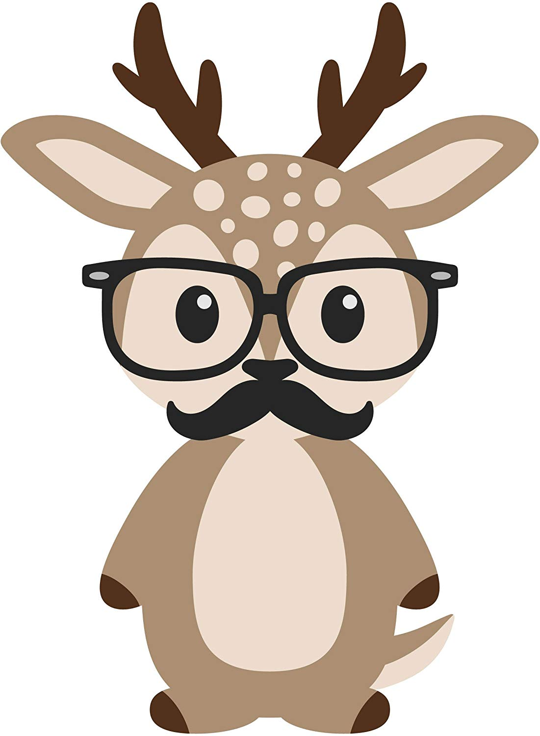 Amazon com adorable hipster. Moustache clipart geeky glass