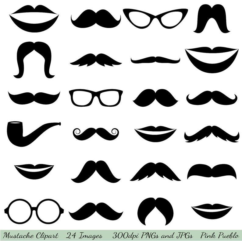 Clip art glasses lips. Clipart mustache glass