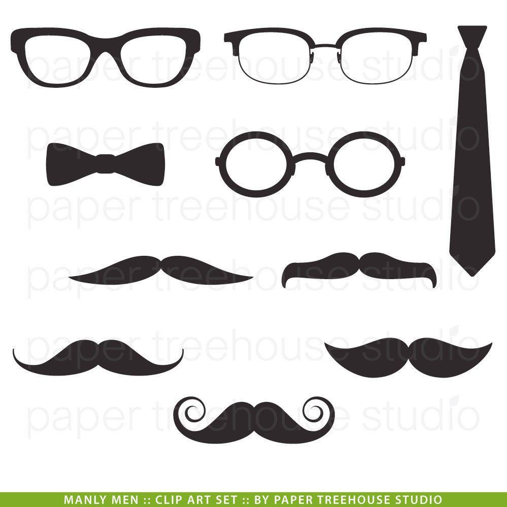Clipart mustache glass eye. Manly man clip art