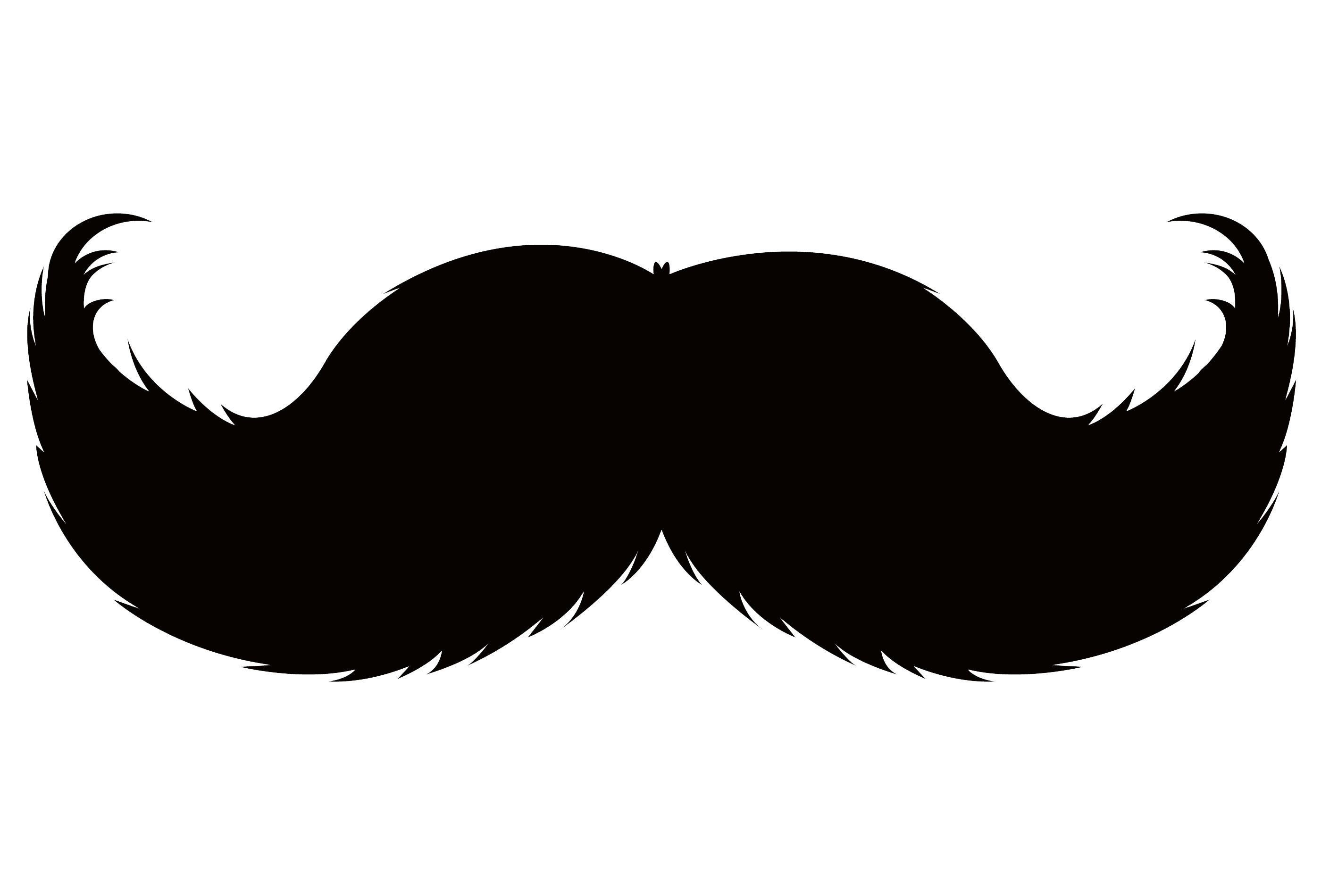 Clipart mustache hand drawn.  collection of black