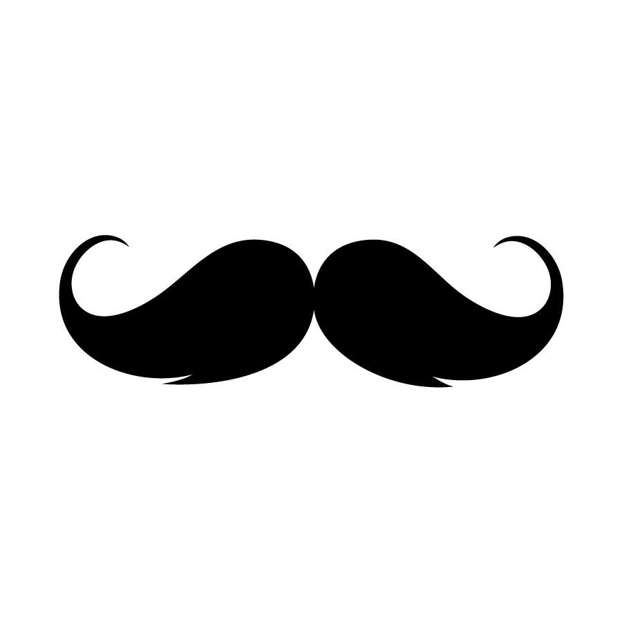 clip art clipartlook. Moustache clipart handlebar mustache