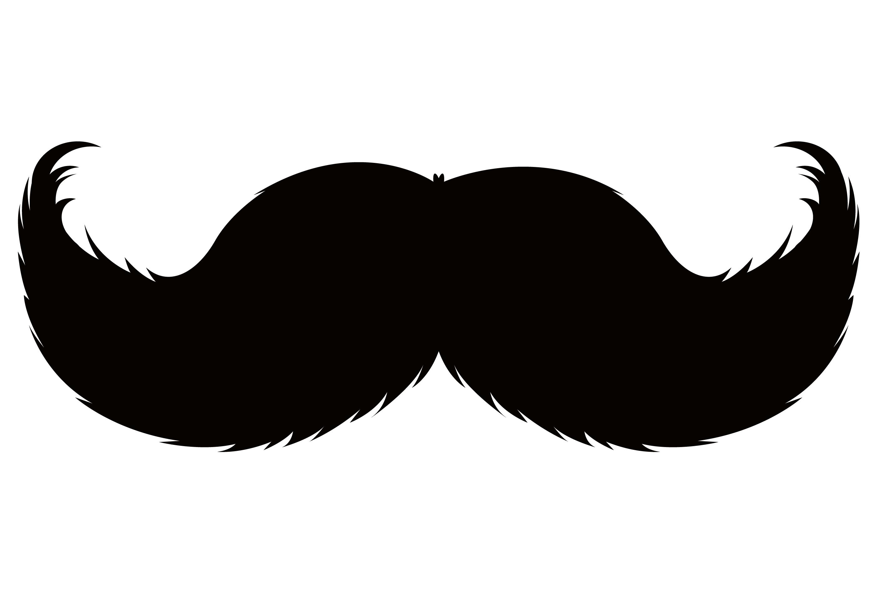 Mustache clipart handlebar mustache. Moustache pencil beard clip