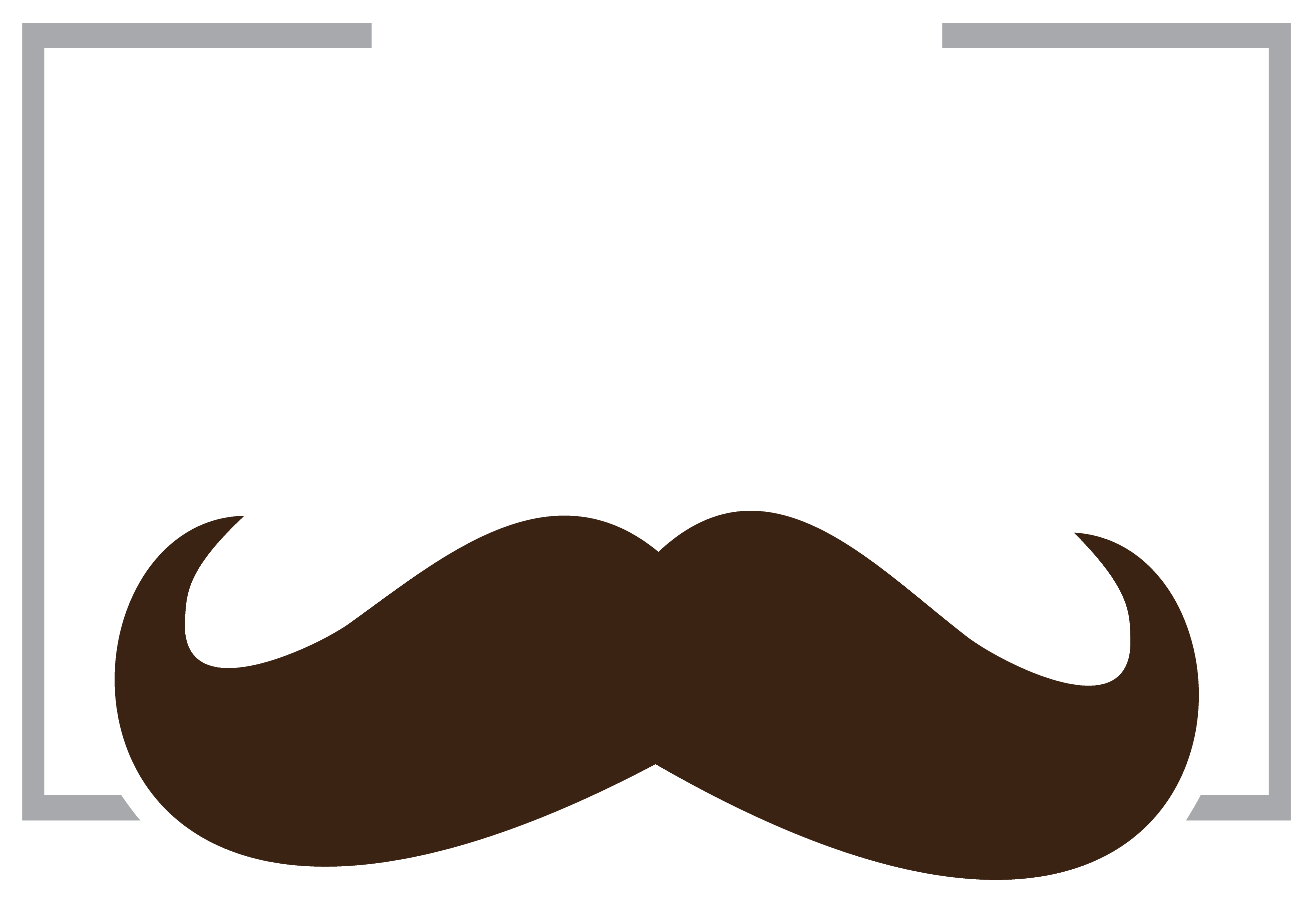 Personalized mustache father mug. Moustache clipart brown