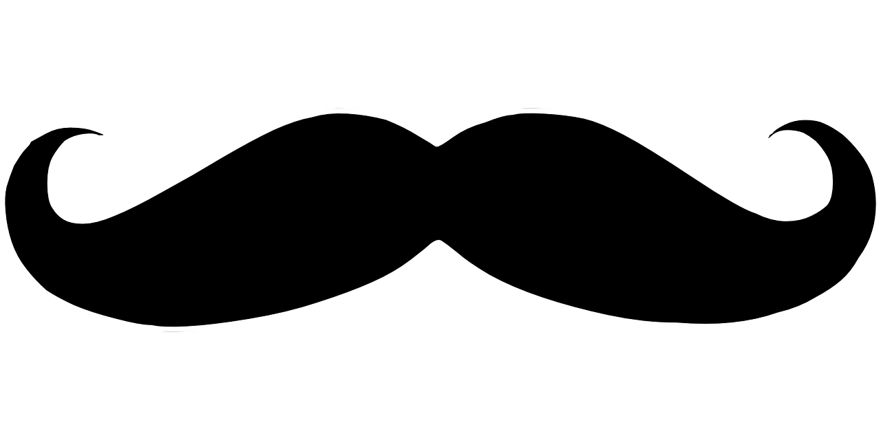 Moustache clipart orange. Men with mustaches and