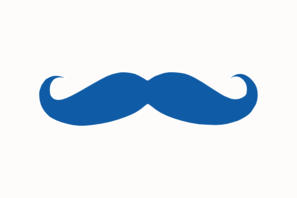Clip art at clker. Clipart mustache light blue
