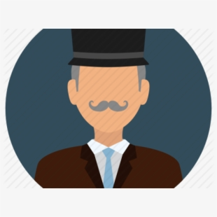 Old man in top. Mustache clipart man's hat