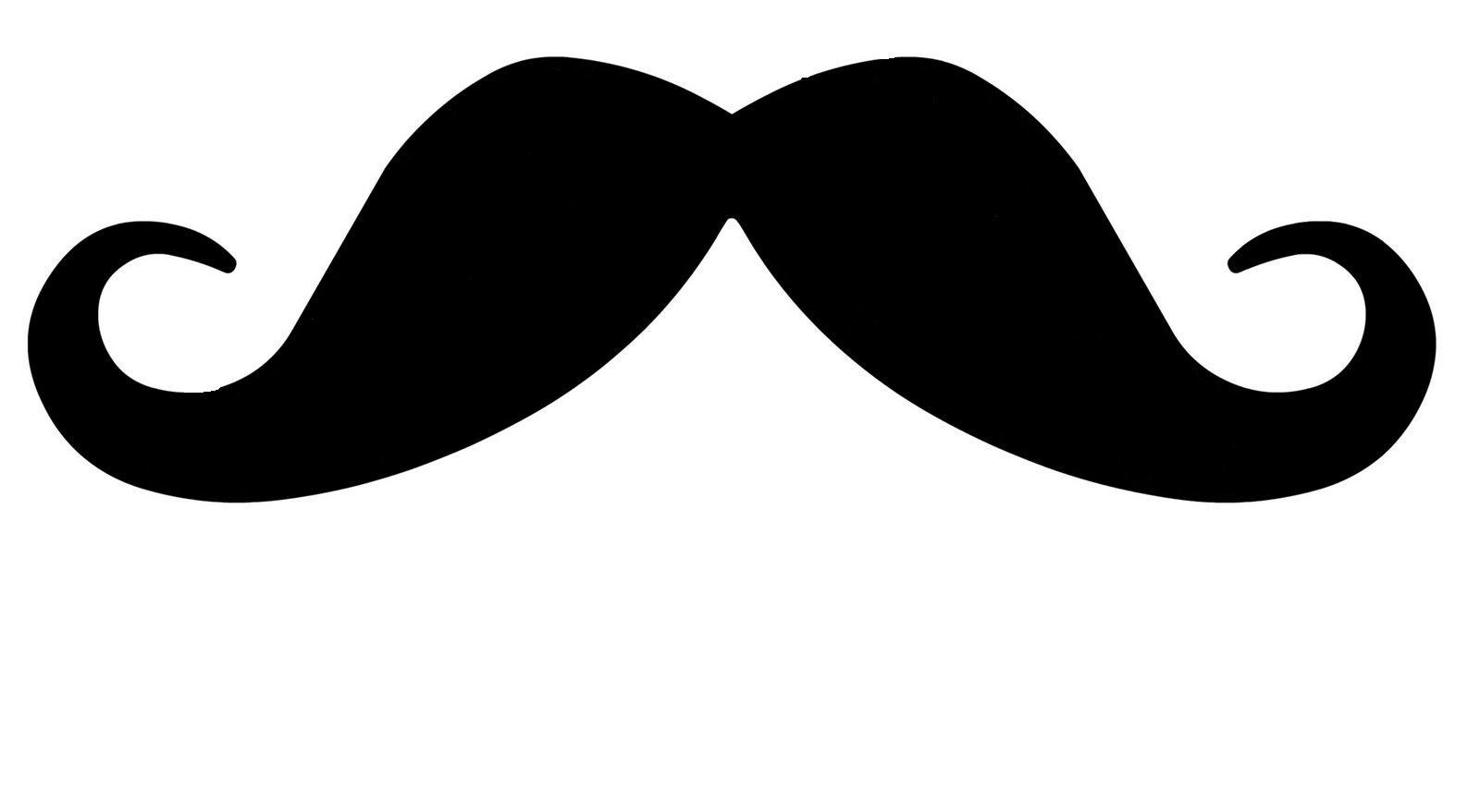 Mustache clipart handlebar mustache. Moustache outline cliparting com