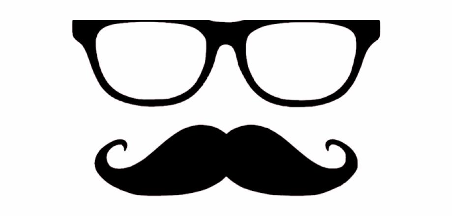 Moustache nerdy and glasses. Glass clipart mustache