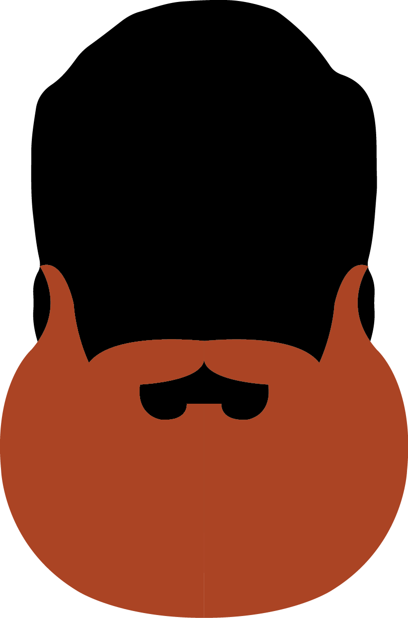Austin facial hair club. Moustache clipart orange