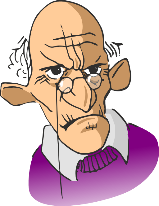 Male clipart svg. Old man i royalty