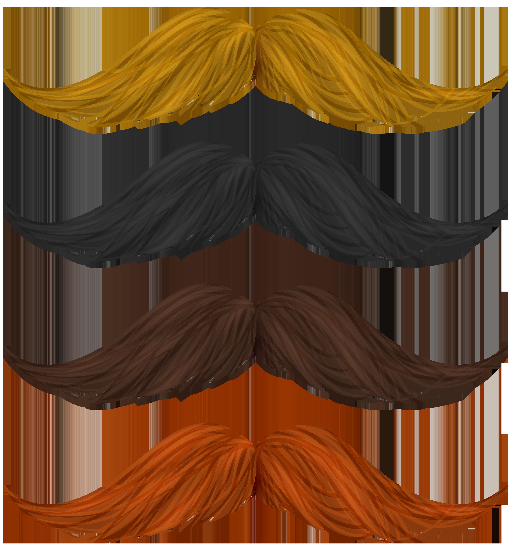 Mustache set png clip. Moustache clipart brown