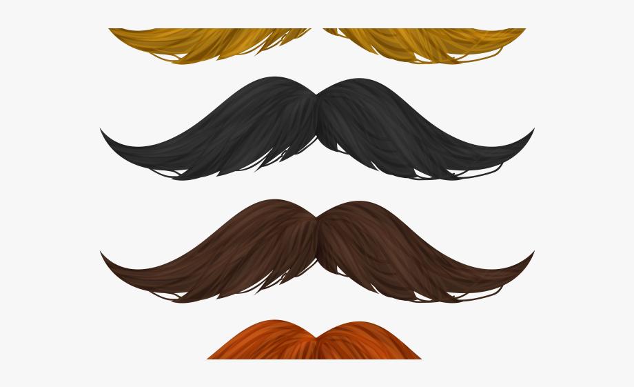 Mustache orange beard . Moustache clipart brown