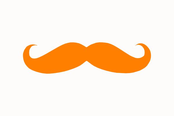 Mustache clip art vector. Moustache clipart orange