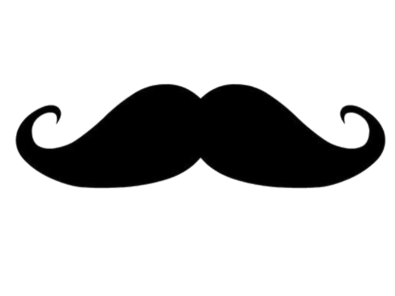 Vision of life mustaches. Moustache clipart brown