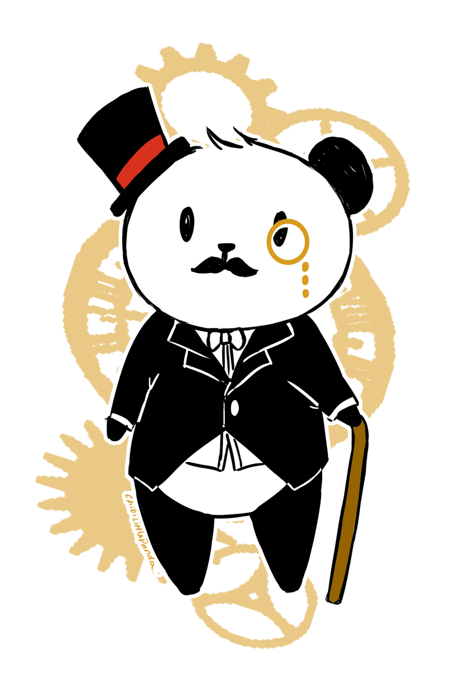Like a sir without. Clipart mustache panda
