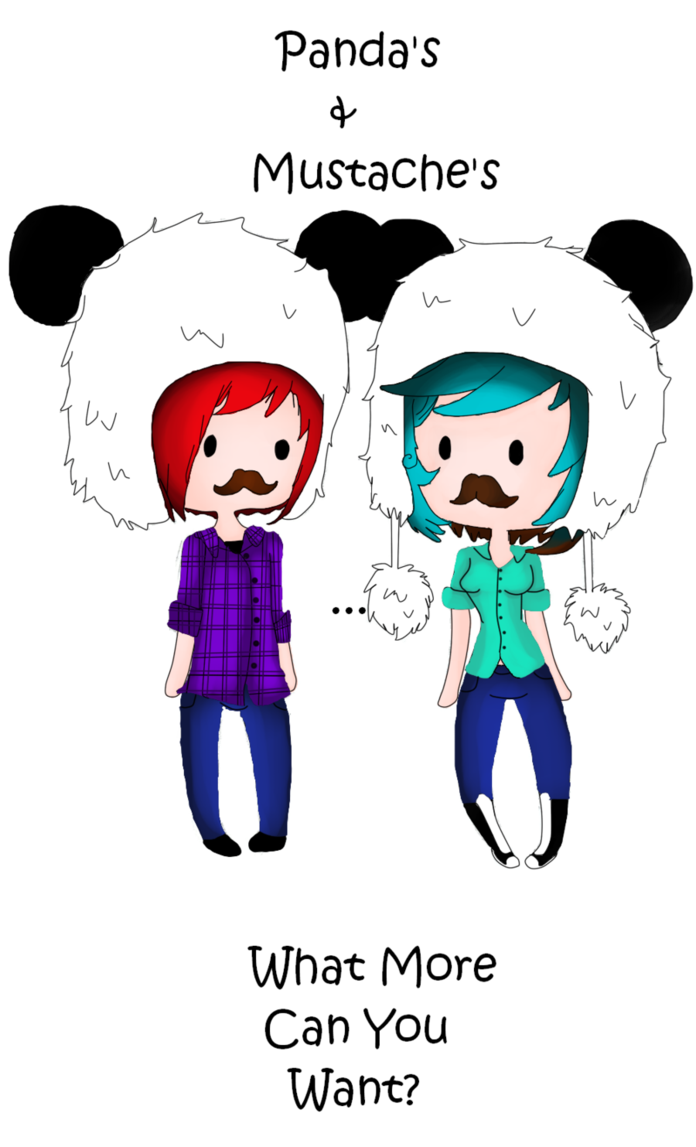 Clipart mustache panda. S and by pandiepockets