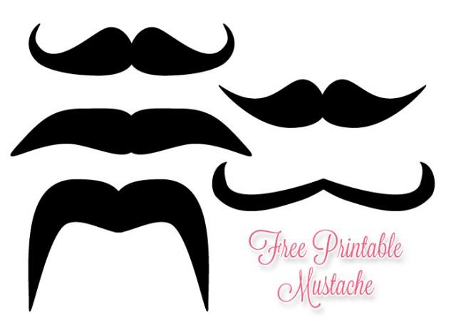 Free mustache printables download. Moustache clipart paper