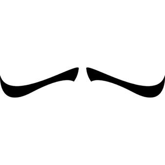 Vectors photos and psd. Clipart mustache pencil thin mustache