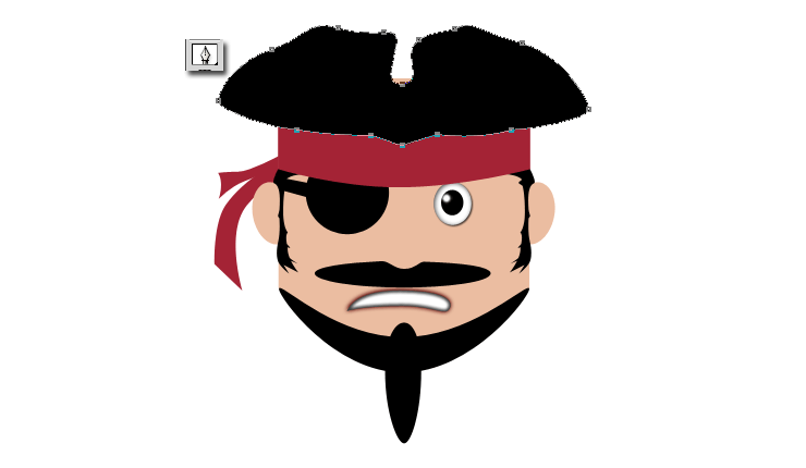 Clipart mustache pirate. How to draw a