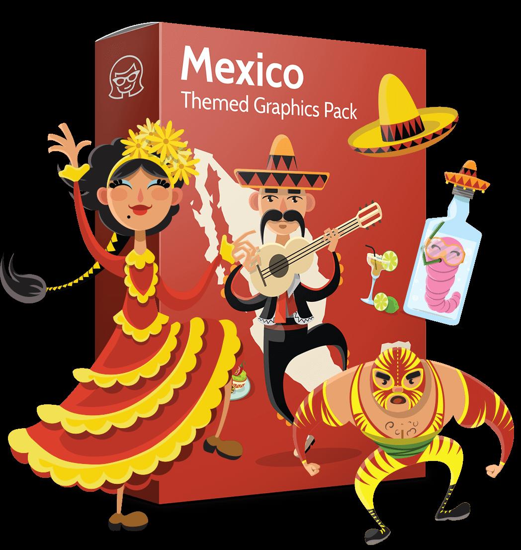 Moustache clipart poncho mexican. Vector collection hola amigo