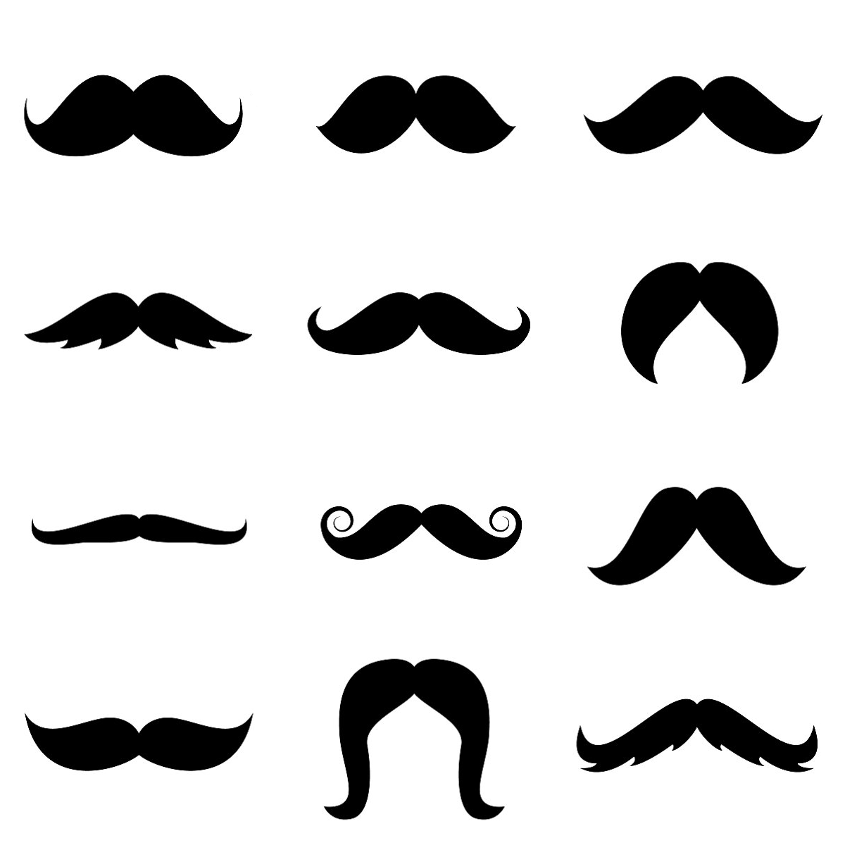 Clipart mustache printable. Free cliparts printables download