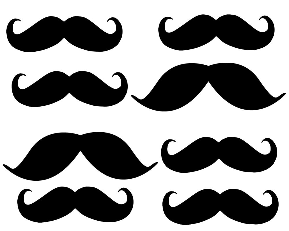 Free printables download clip. Clipart mustache printable