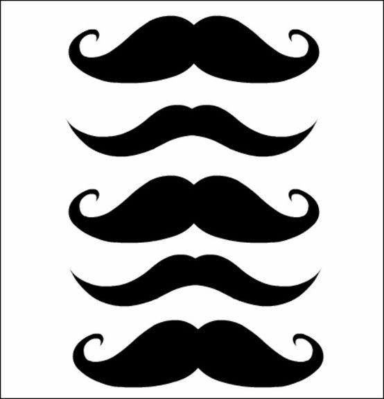 Free mustache printables download. Moustache clipart printable