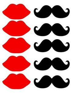 Clipart mustache printable. Template best lips