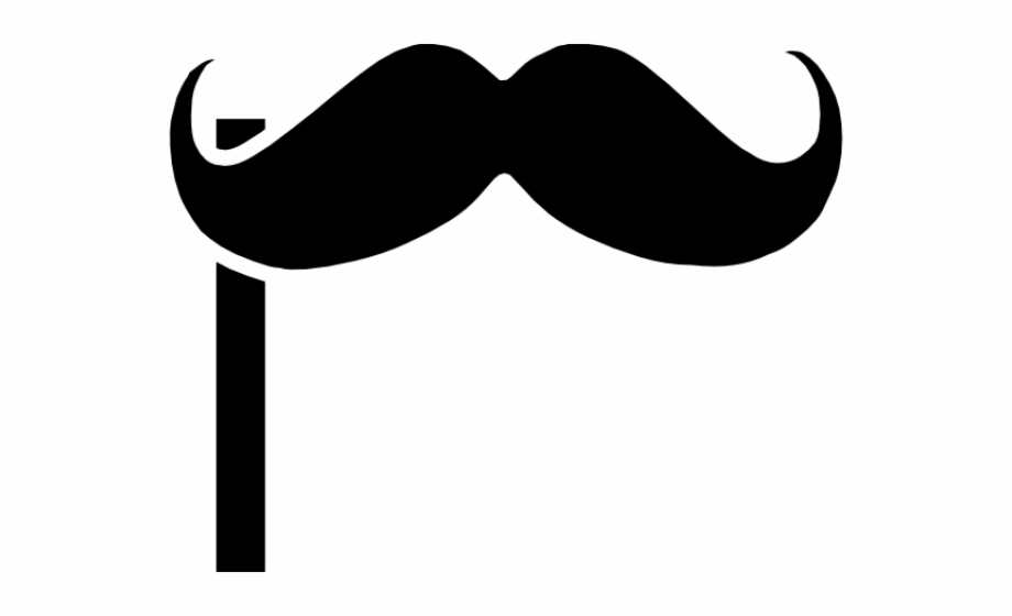 Black and white stock. Clipart mustache prop