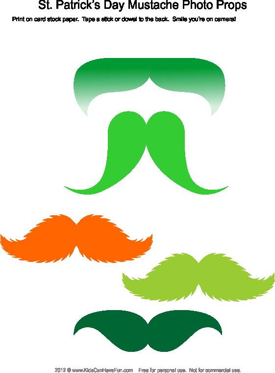 Clipart mustache prop. St patrick s day