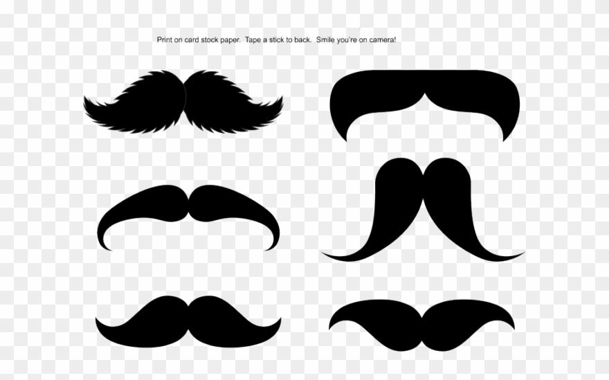 Moustache clipart photo booth. Mustache stick printable prop