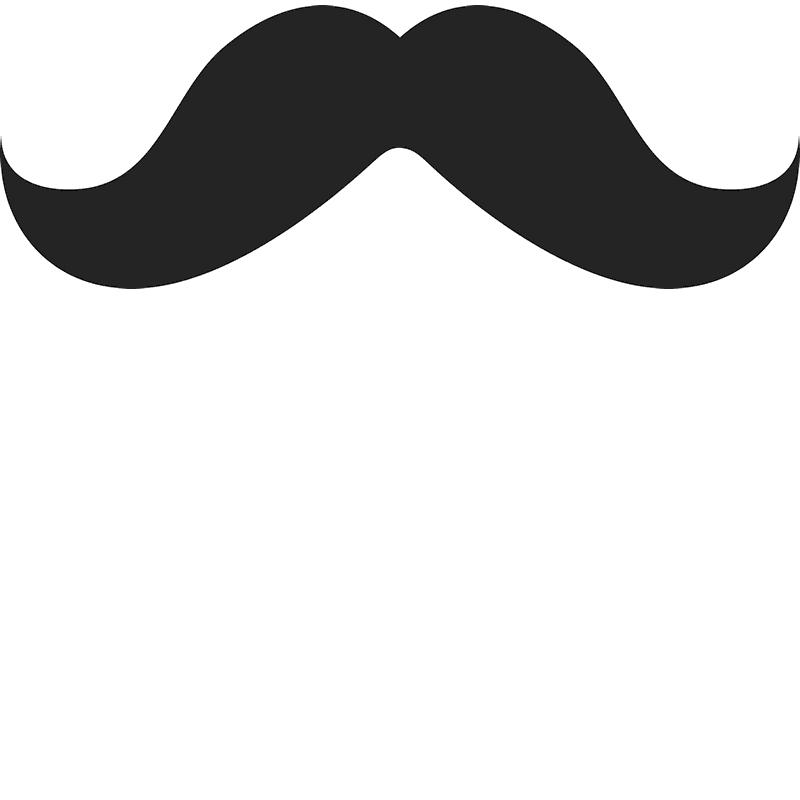 The mario moustache rubber. Mustache clipart rainbow