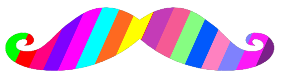 Mustache clipart rainbow. Images gallery for free