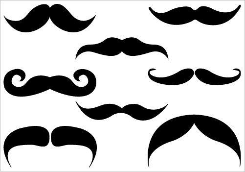 Silhouette clip art transfert. Clipart mustache real