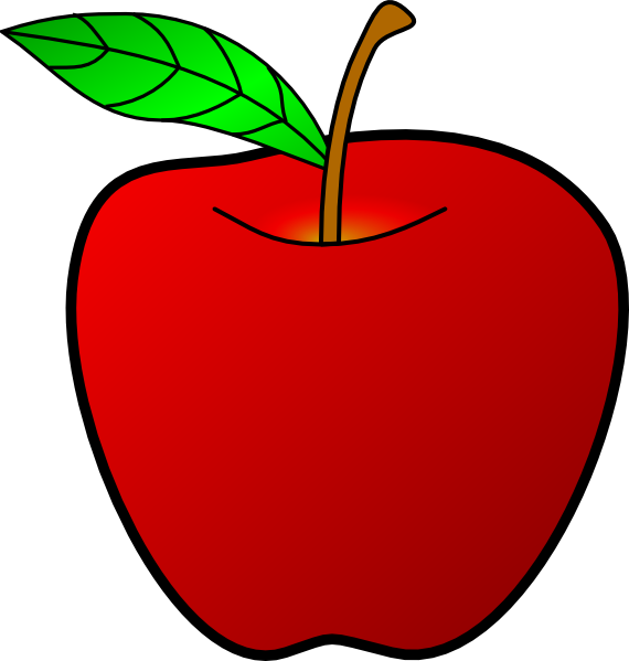 Clipart mustache red. Apple clip art at