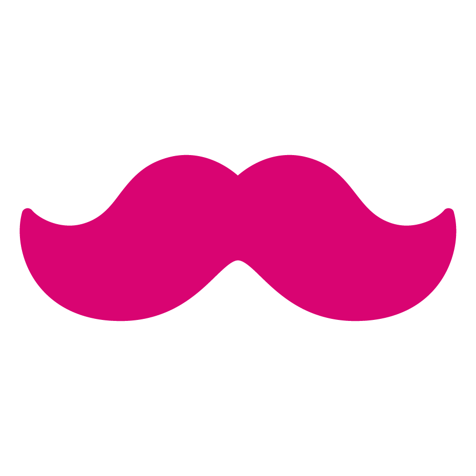 Moustache clipart vector. How to get initial