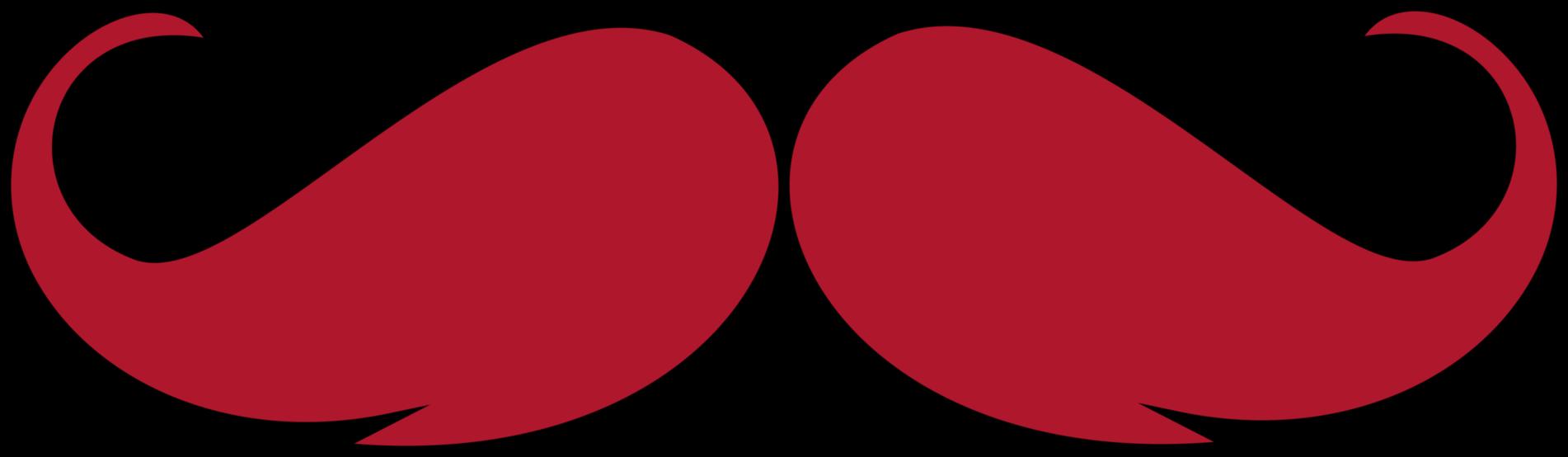 Clipartpen. Clipart mustache red