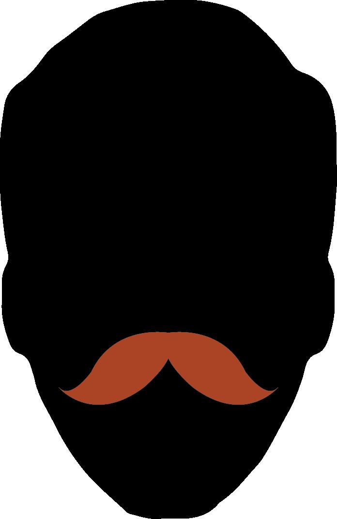 moustache clipart shape