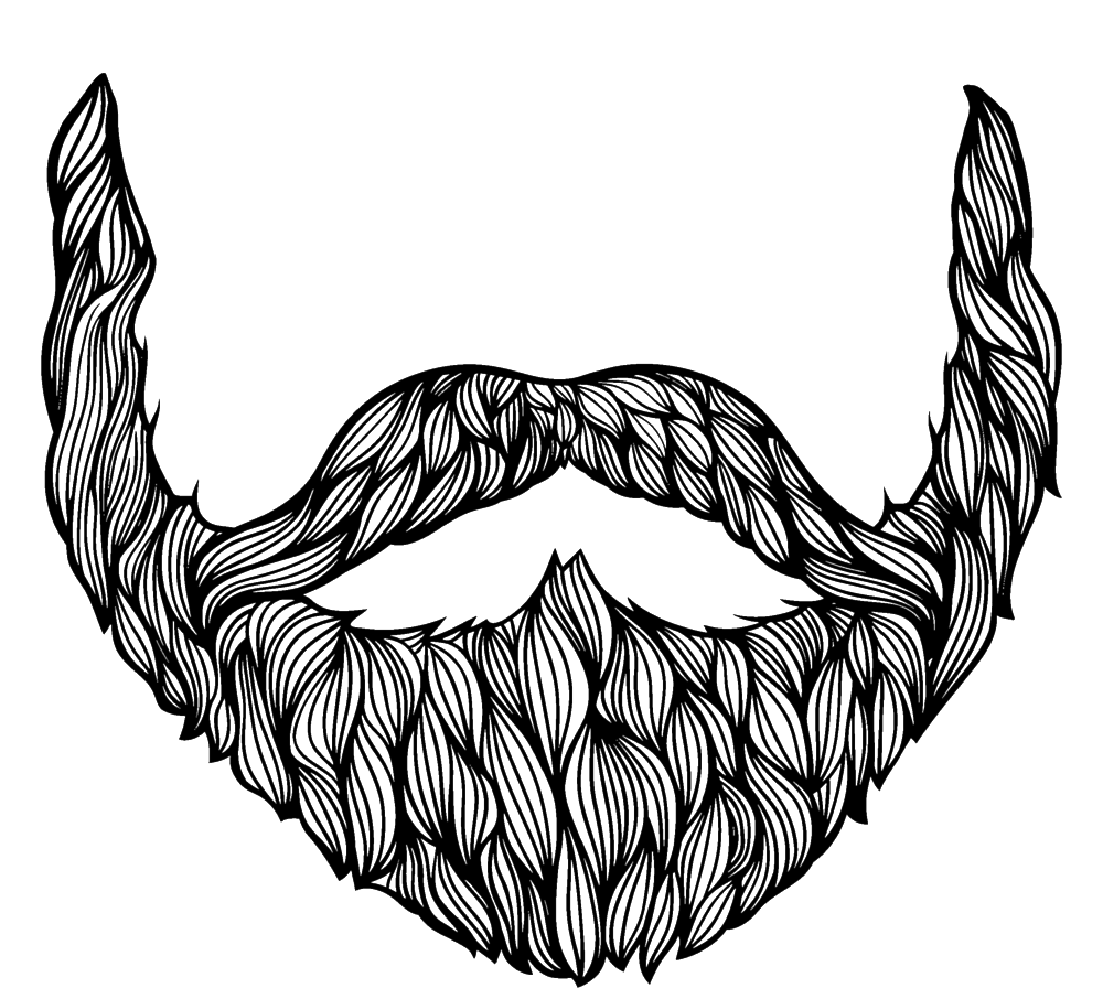 Clipart mustache simple.  collection of beard