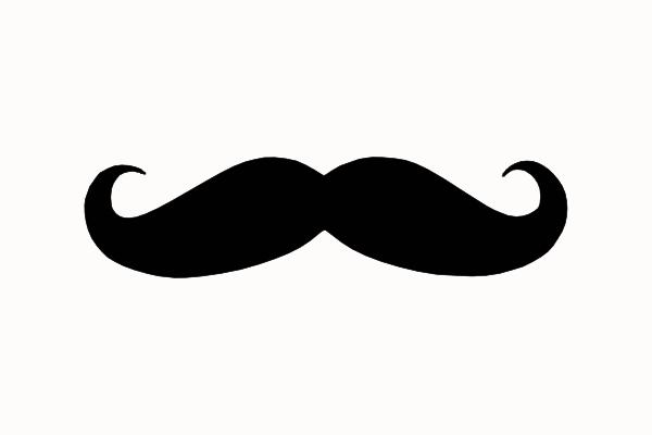 Black mustache clip art. Moustache clipart silhouette