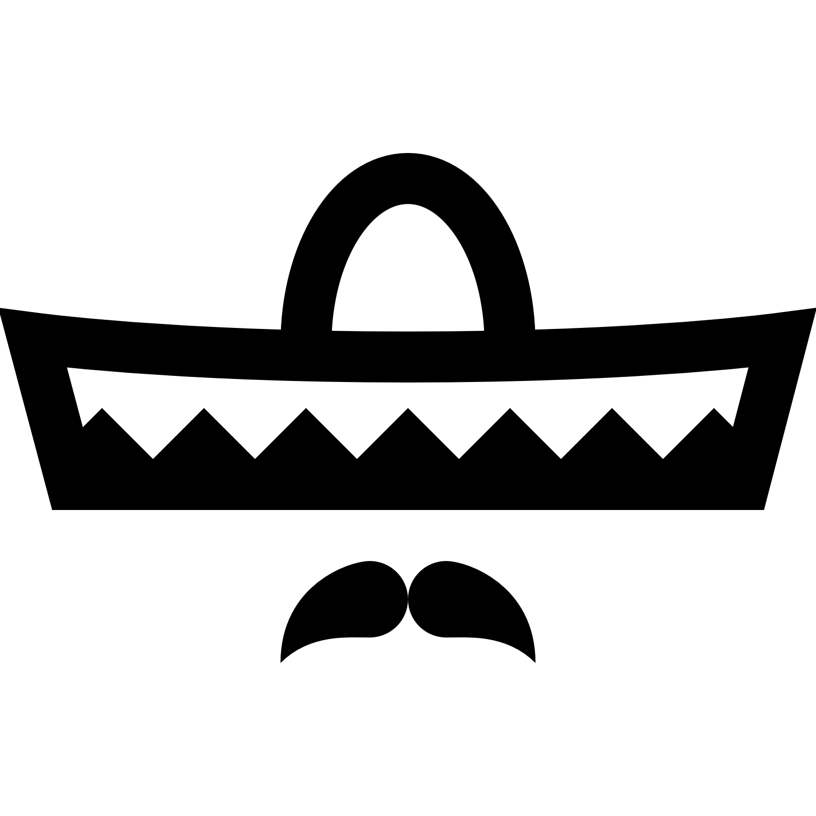 Moustache clipart sombrero. Pictures group icon free