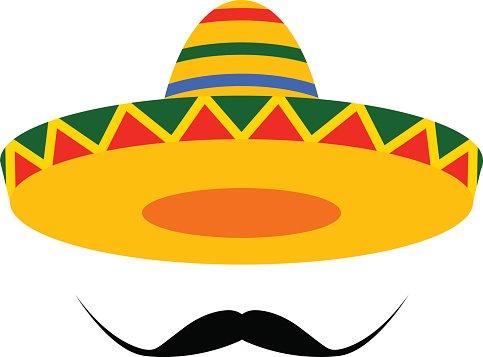 Moustache clipart sombrero. Premium clipartlogo com