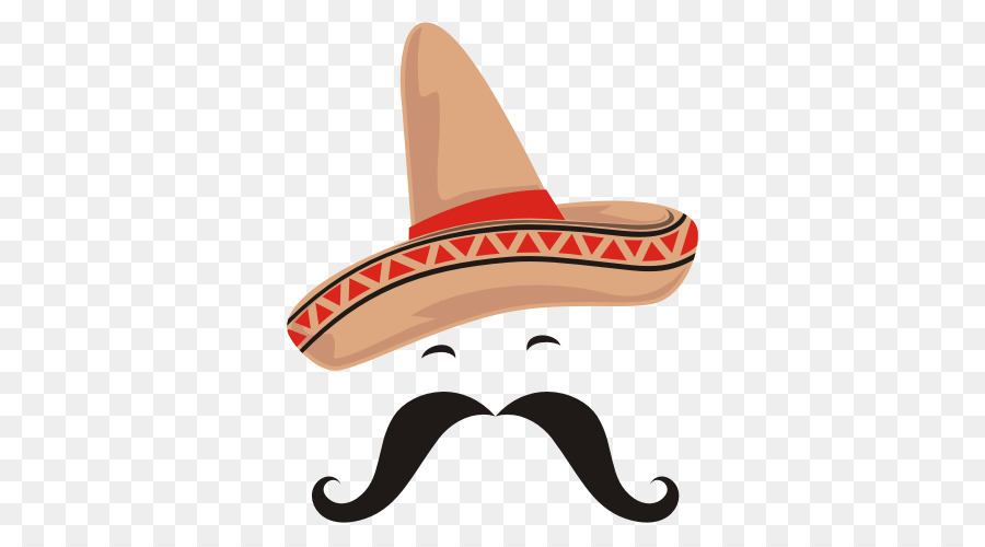 Cowboy hat transparent . Moustache clipart sombrero